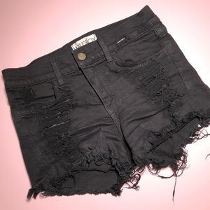 Wildfox denim distressed shorts